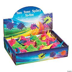 Two-Tone Spikey Ball YoYos