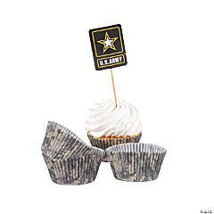 U.S. Army® Logo Cupcake Wrappers with Picks
