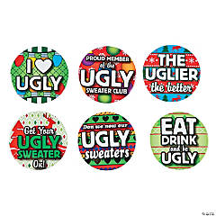ugly sweater buttons - Christmas Pins