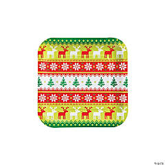 Ugly Sweater Paper Dinner Plates - 8 Ct.