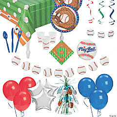 Ultimate Baseball Party Tableware Kit for 48 Guests