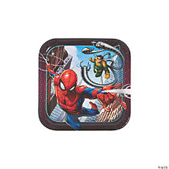 Ultimate Spider-Man™ Square Paper Dessert Plates - 8 Ct.