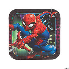 Ultimate Spider-Man™ Square Paper Dinner Plates - 8 Ct.