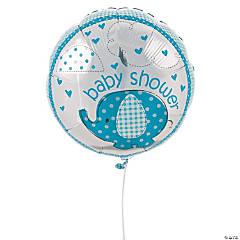 Umbrellaphants Blue Mylar Balloon