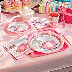Umbrellaphants Pink Paper Dessert Plates - 8 Ct.