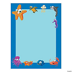 "Under the Sea Border Paper, 8.5"" x 11"", 50 sheets per pack, 6 packs"