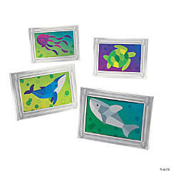 Under the Sea Mosaic Sticker Scene in Frame Craft Kit