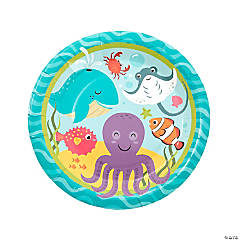 Under the Sea Paper Dinner Plates - 8 Ct.