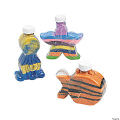 Under the Sea Plastic Sand Art Bottles
