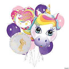 Unicorn Birthday Balloon Bouquet