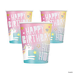 Unicorn Birthday Cups
