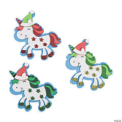 Unicorn Christmas Magnet Craft Kit
