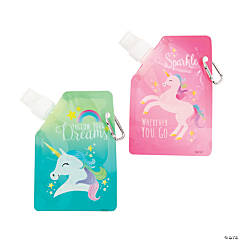 Unicorn Collapsible Water Bottles