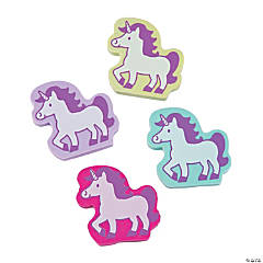 Unicorn Erasers - 24 Pc.