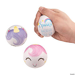 Unicorn Face Stress Balls