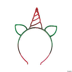 Unicorn Glitter Holiday Headbands
