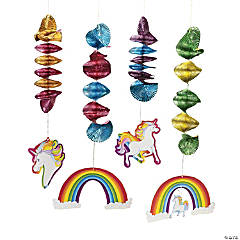 Unicorn Hanging Spirals
