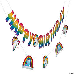 Unicorn Happy Birthday Garland