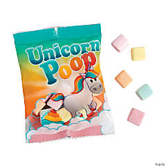 Unicorn Poop Marshmallow Candy Fun Packs