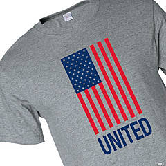 United American Flag Adult's T-Shirt - Large