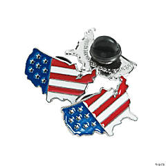 United States Flag Pins Clip Strip