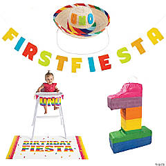 Uno Fiesta First Birthday Party Decorating Kit