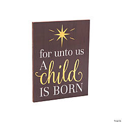 Unto Us A Child Is Born Sign