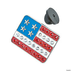USA Bling Flag Pins