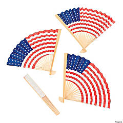 USA Flag Folding Hand Fans