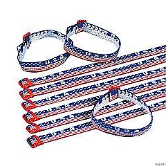 USA Woven Friendship Bracelets Clip Strip