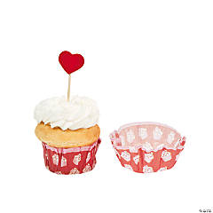 Valentine Baking Cups with Picks