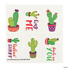 Valentine Cactus Temporary Tattoos