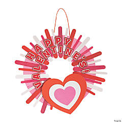 Valentine Craft Stick Wreath Craft Kit