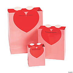 Valentine Die-Cut Heart-Shaped Gift Bags