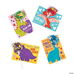 Valentine Dino-Mite Lollipops with Card