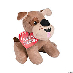 Valentine Drooly Stuffed Dogs with Card