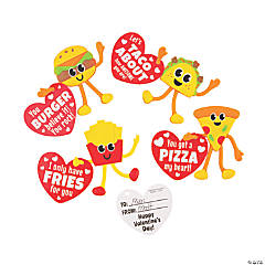 Valentine Fast Food Bendables with Card