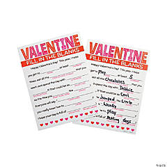 Valentine Fill-in-the-Blank Cards
