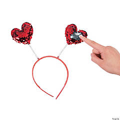 Valentine Flipping Sequin Head Boppers