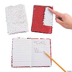 Valentine Flipping Sequin Notebooks