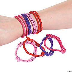 Valentine Friendship Rope Bracelets Clip Strip