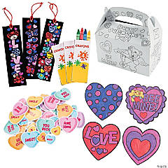 Valentine Fun Box of Crafts for 12