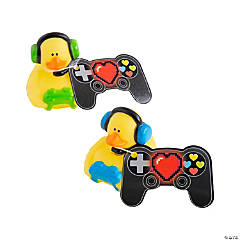 Valentine Gamer Rubber Duckies with Card