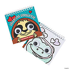 Valentine Googly Eyes Spiral Coloring Books