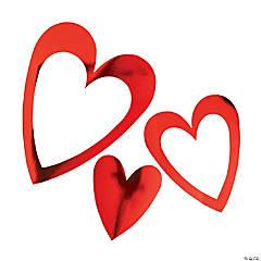 Valentine Heart Foil Wall Cutouts