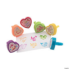 Valentine Heart-Shaped Stamper Rings