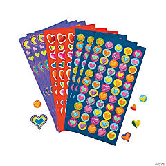 Valentine Heart Sticker Sheets Clip Strip