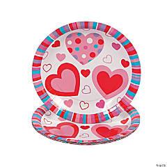 Valentine Hearts Paper Dessert Plates - 25 Ct.