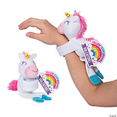 Valentine Hugging Stuffed Unicorns with Cards