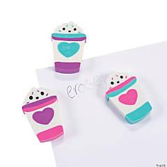 Valentine Latte Scented Erasers